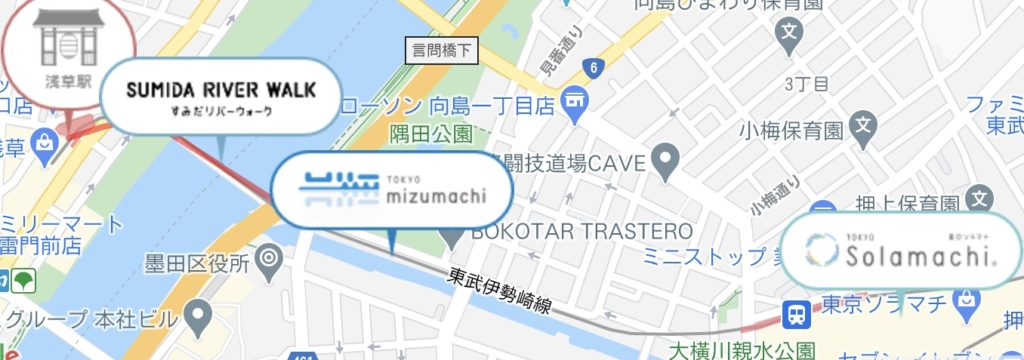 浅草・押上エリアマップ