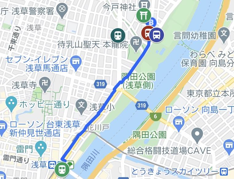 今戸神社の地図