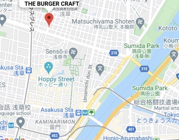"""""""ザ バーガークラフト""""の周辺地図"""