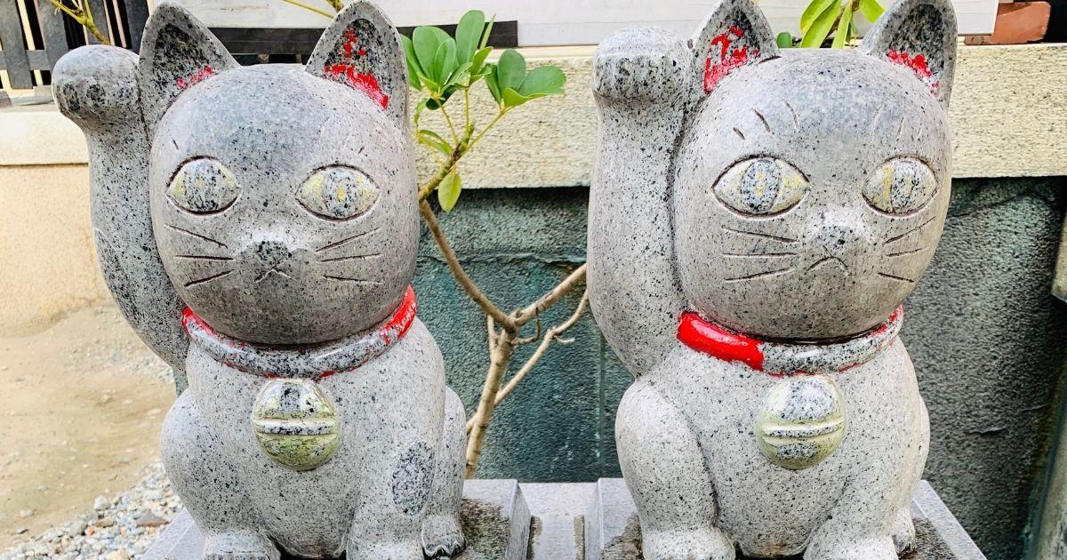 今戸神社の石なで猫