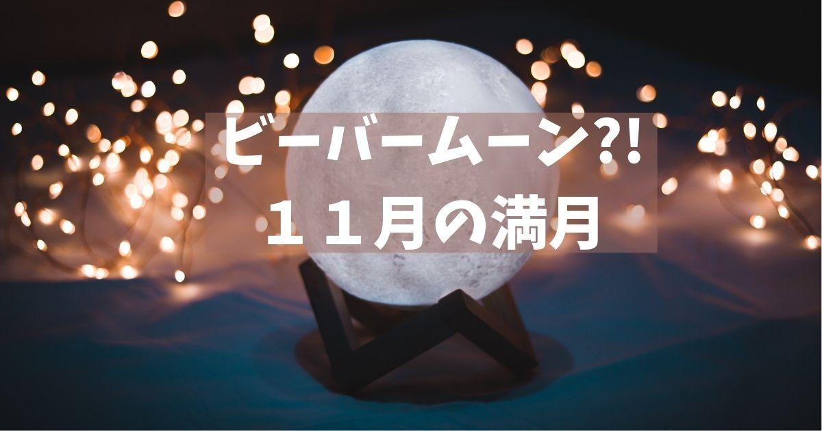 ビーバームーン?!11月の満月