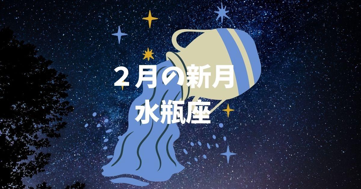2月・水瓶座の新月カレンダー!!願い事や特徴は?!ボイドタイムはいつ?!